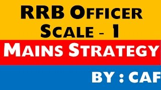 RRB Officer Scale - 1 Mains Syllabus ( Strategy ) 2017 Video