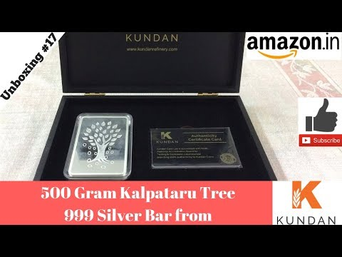 Kundan Refinery 500 Gram 999 Silver Bar (India 2017)