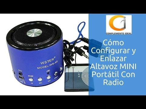 6d85d0425f8 Cómo Configurar Altavoz Mini Portátil Con Micro Usb, USB y Radio WS-A8 | Parlante  Inalámbrico Móvil - YouTube