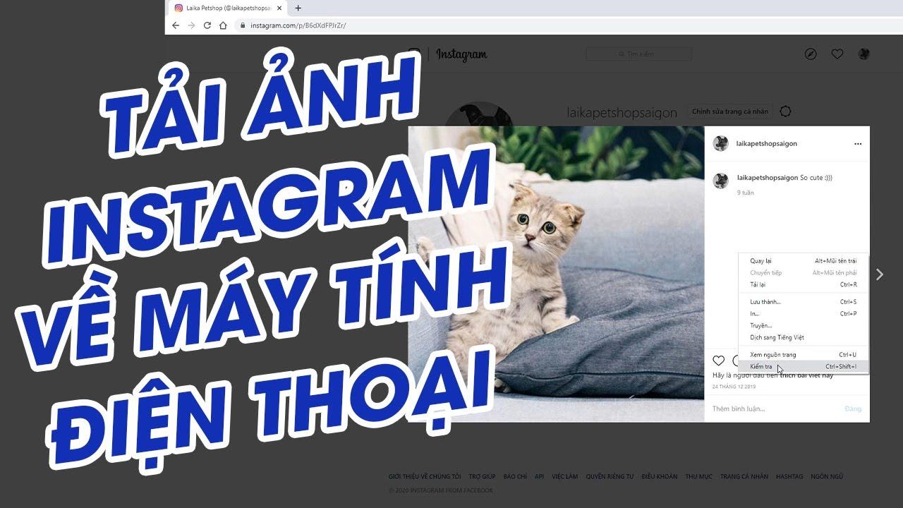 Cách TẢI ẢNH trên Instagram về MÁY TÍNH và ĐIỆN THOẠI đơn giản nhất | 2020