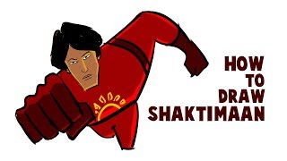 How To Draw Shaktimaan | Drawing And Coloring Shaktimaan In Krita |
