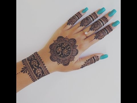 Easy Henna Design for Your Hands