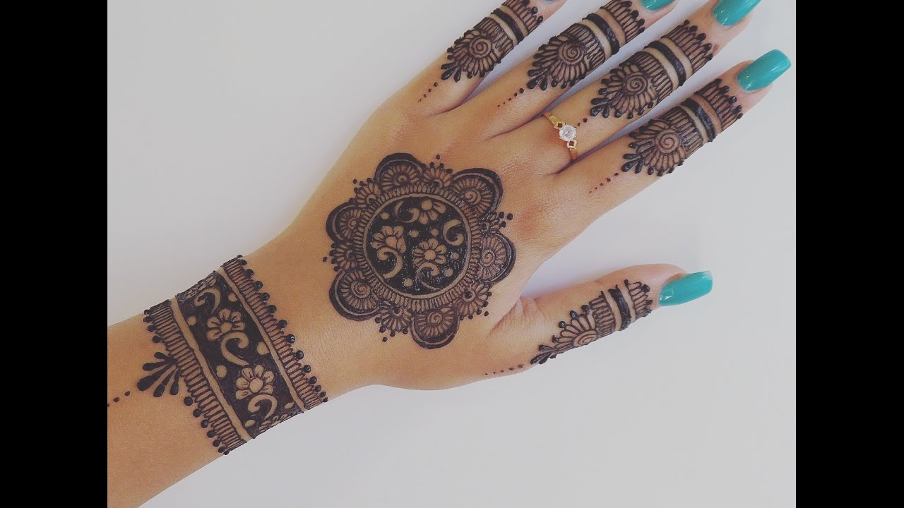 Easy Henna Design For Your Hands Youtube