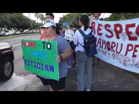 Guamanians rally unite, for peace in capitol village of Hagatna