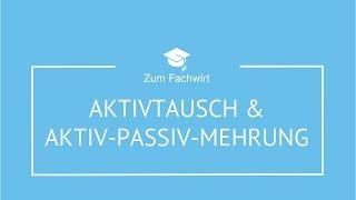 Aktivtausch, Passivtausch, Aktiv-Passiv-Mehrung, Aktiv-Passiv-Minderung