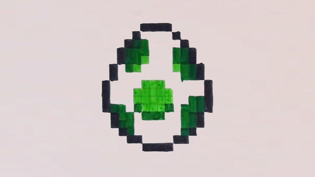 Comment Dessiner Loeuf De Yoshi Pixel Art Mario