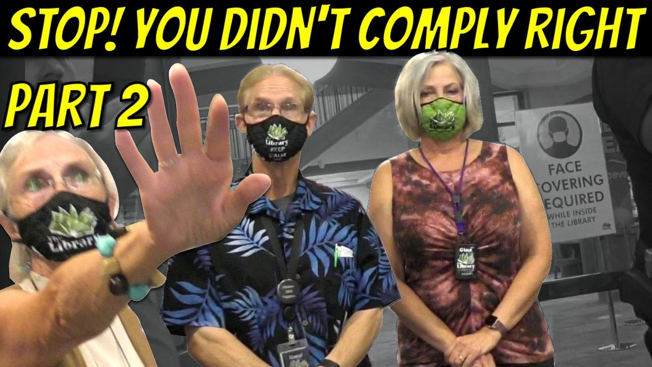 TYRANNY IN IDAHO! Karen Librarians Say My Compliance Is Inappropriate.  No Logic At Library