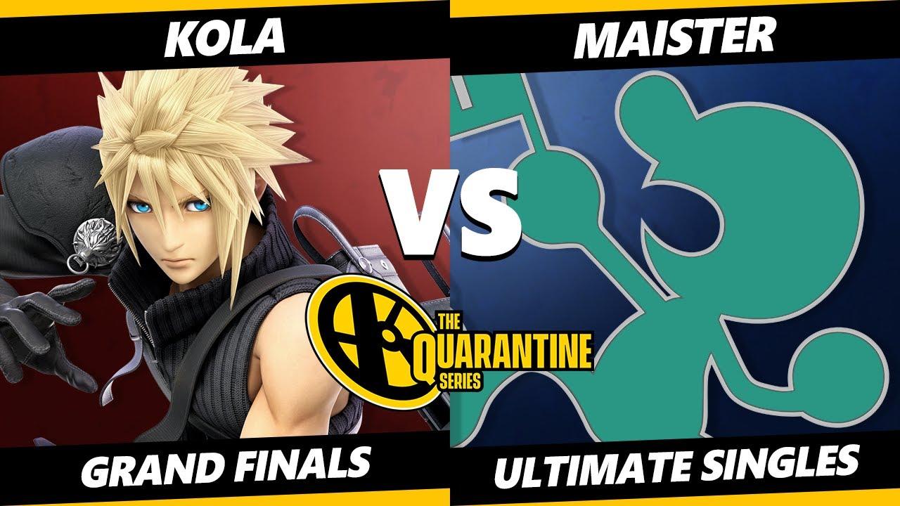 The Quarantine Series Grand Finals - Kola (Cloud) Vs. Maister (Game & Watch) Smash Ultimate - SS