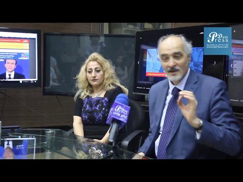 دام برس : أسد الدبلوماسية السورية الدكتور بشار الجعفري في زيارة لمؤسسة دام برس الإعلامية