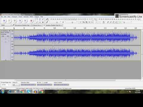 How to remove music from song using Audacity software in hindi.