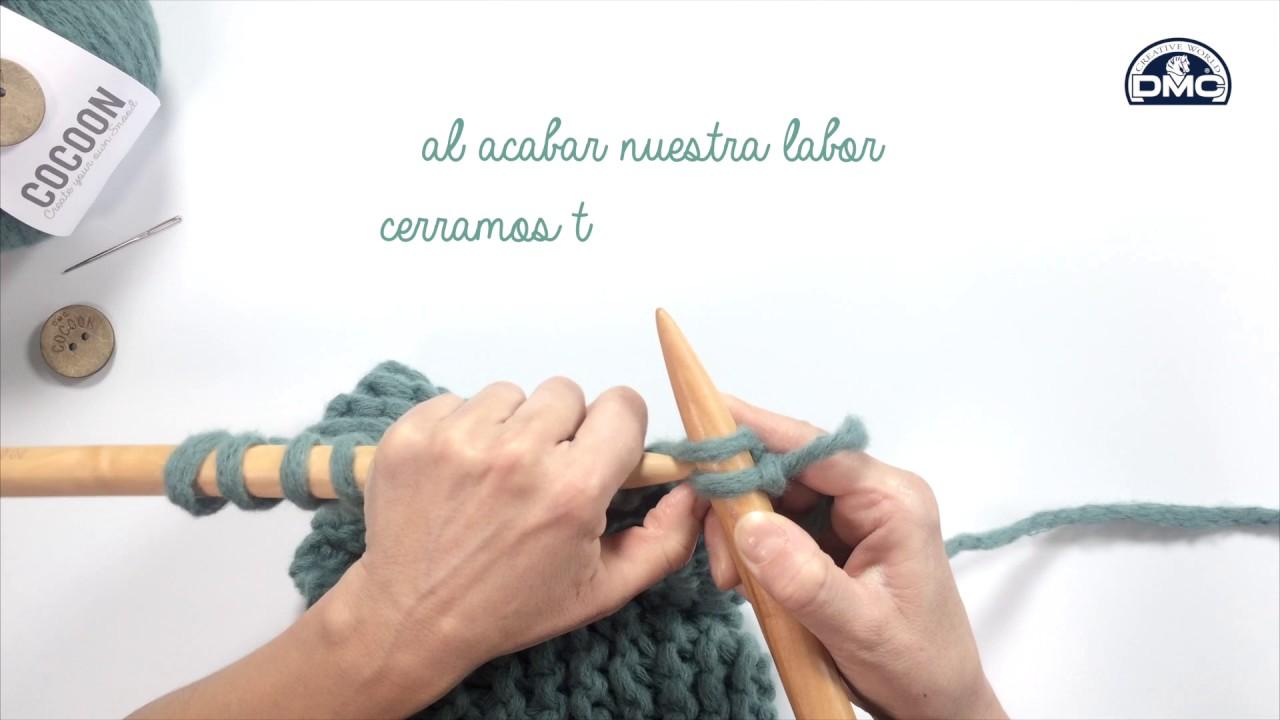 Tutorial tejer cuello tricot con Cocoon - YouTube