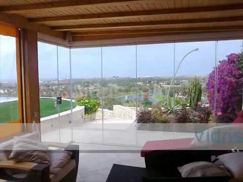 Cristales móviles para porches y casas Vidris - YouTube