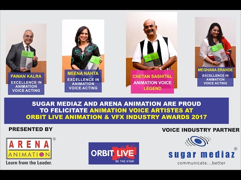 Sugar Mediaz honours Voice Artistes  at Animation Industry Awards 2017