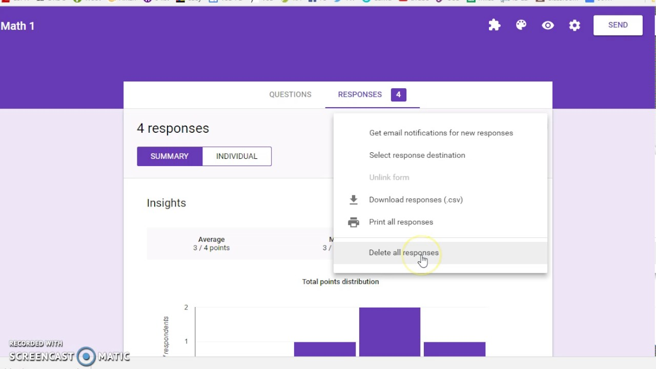 Unlink & Delete Form Responses - YouTube