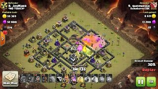 Tips Clash Of Clans TH 9: meratakan (3 star) base war type 83 menggunakan trops GoHoWi