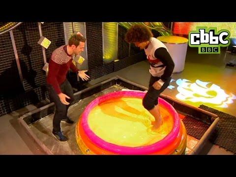 CBBC: Blue Peter - Radzi walks on custard!