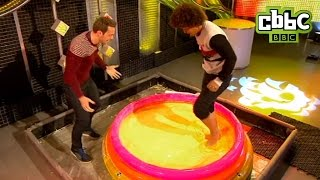 CBBC: Blue Peter - Radzi walks on custard!