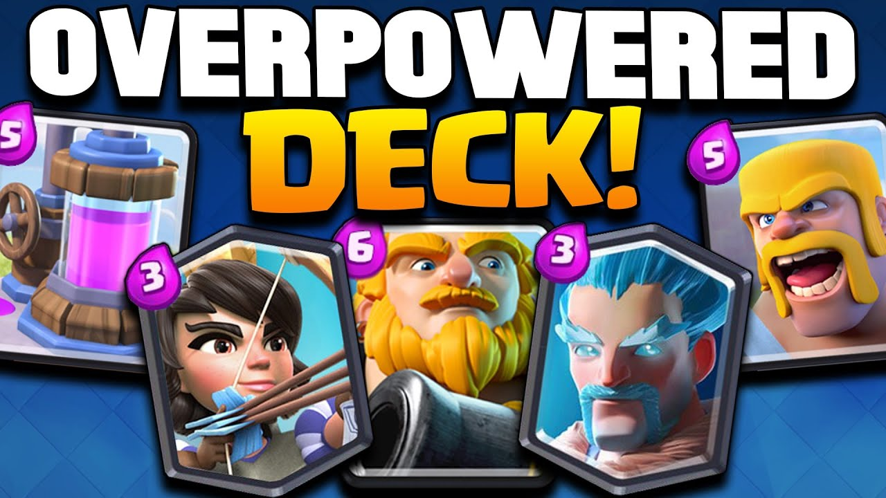 Clash royale dirty unbeatable deck best arena 7 for Clash royal deck arene 7