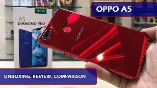 OPPO A5 DIAMOND RED REVIEW AND COMPARISON