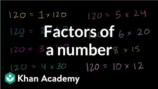 Finding factors of a number | Factors and multiples | Pre-Algebra | Khan Academy thumbnail
