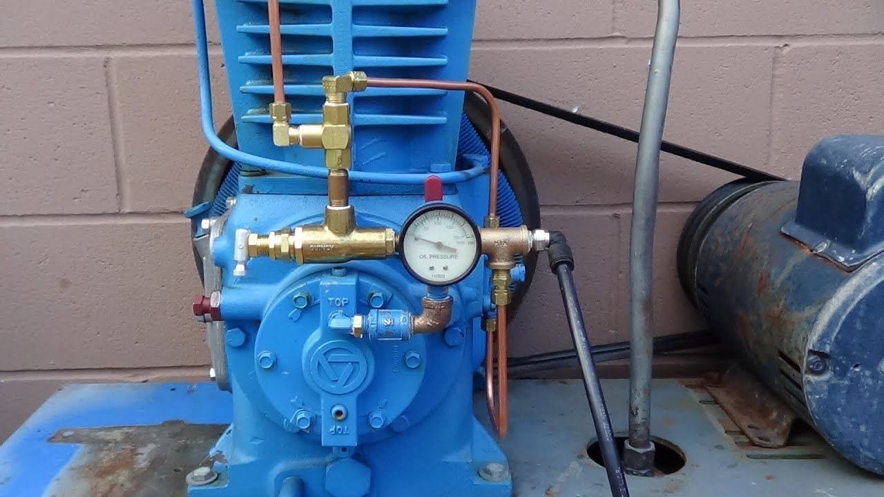 air compressor unloader valve diagram msd 6a wiring chevy installing dual control quincy qr 25 youtube