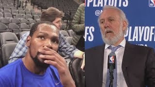 Kevin Durant Shocked After Hearing Gregg Popovich s Wife Has Died