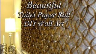 DIY HOME DECOR:  TOILET PAPER ROLL  FOR FORMAL LIVING SPACE