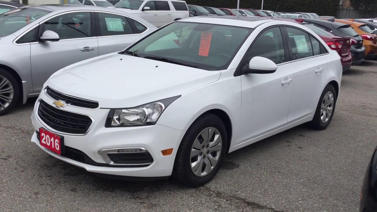 White Chevy Cruze >> 2016 Chevrolet Cruze Limited Lt Summit White Roy Nichols Motors Courtice On