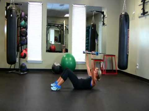Full Sit Up with Weighted Bar