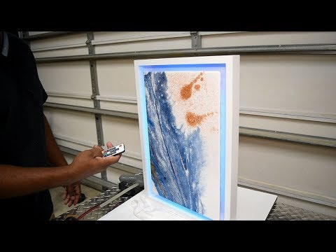 Floating Epoxy Resin Wall Art With LED