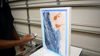 How to make a modern picture frame and epoxy art