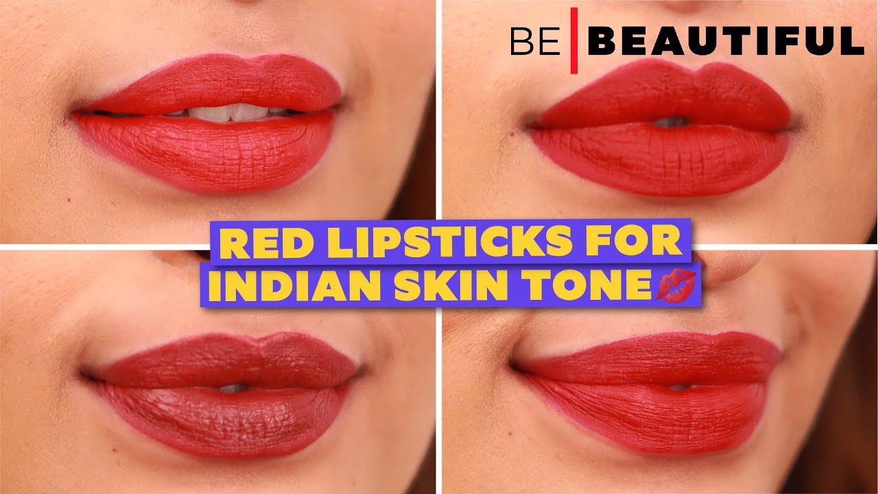 How To Find Red Lipstick For Indian Skin Tone   इंडियन स्किन के लिए ५ लाल लिपस्टिकस   Be Beautiful