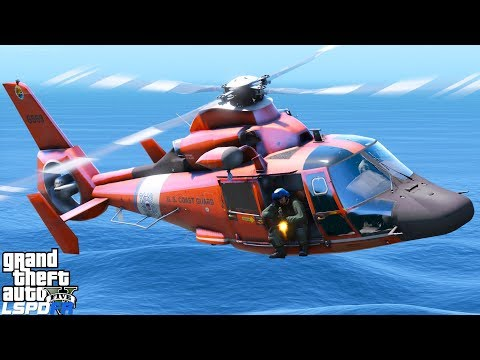 GTA 5 LSPDFR Coastal Callouts USCG Helicopter Interdiction Tactical Squadron Shooting Fleeing Boat