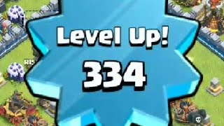 Chegando Level 334 / Level UP 334 - Tche_BR Clash of Clans