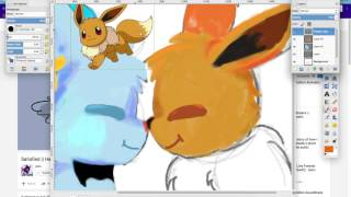 SPEEDPAINT|| pokemon shipping: Eevee X Shinx