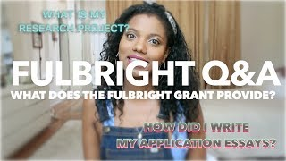 FULBRIGHT Q&A | U.S. STUDENT RESEARCH GRANT | PHD CANDIDATE | SCHOLAR NOIRE