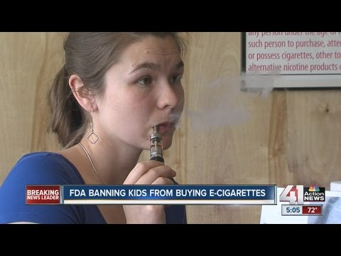 FDA banning kids from buying e-cigarettes
