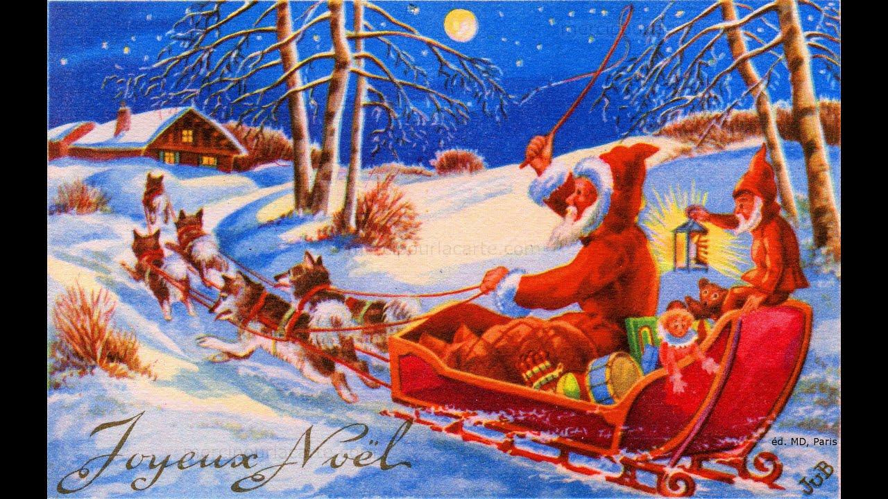 Noël en 50 cartes postales anciennes et récentes - 1 - YouTube