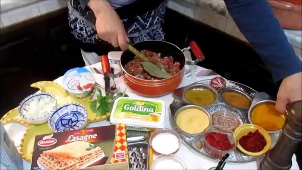 Lasagne recette tunisienne for Cuisine tunisienne