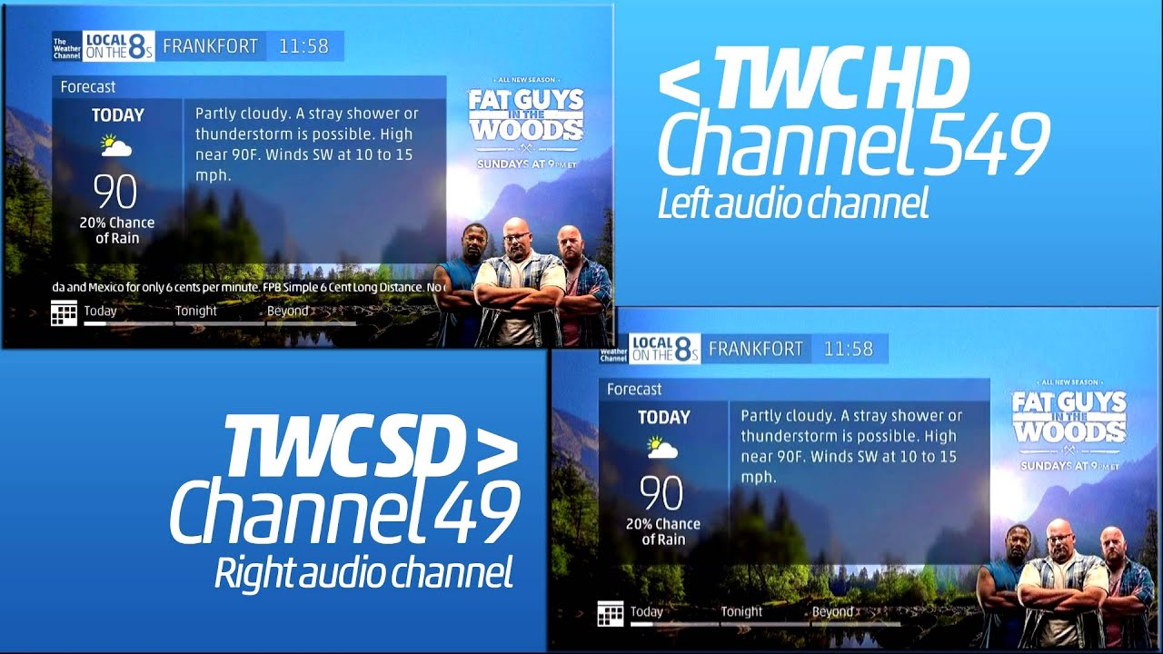 the weather channel  hd double local