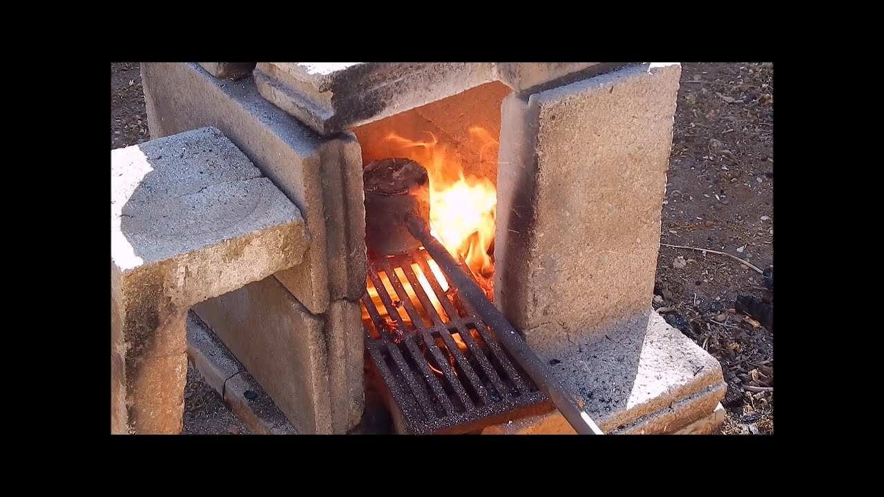 Backyard Metal Casting Furnace backyard metal casting with my $20 air blower - youtube