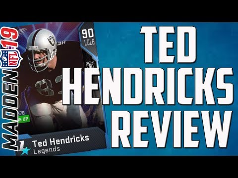 How Good is 90 Overall Ted Hendricks? Madden 19 Card Review