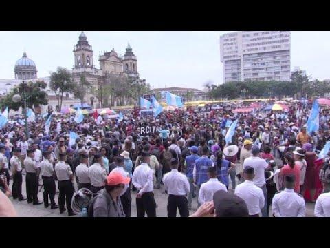 Protestas marcan festejos de independencia en Guatemala