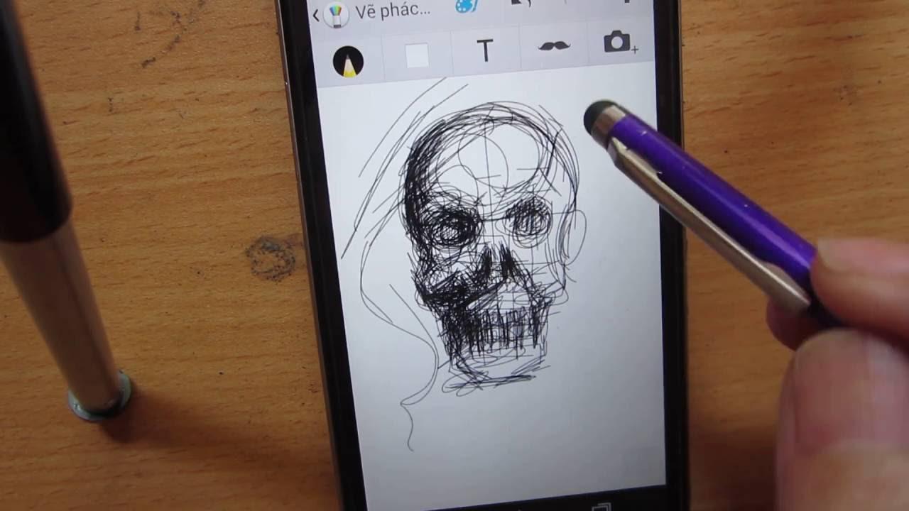 vẽ đầu lâu bằng smarkphone