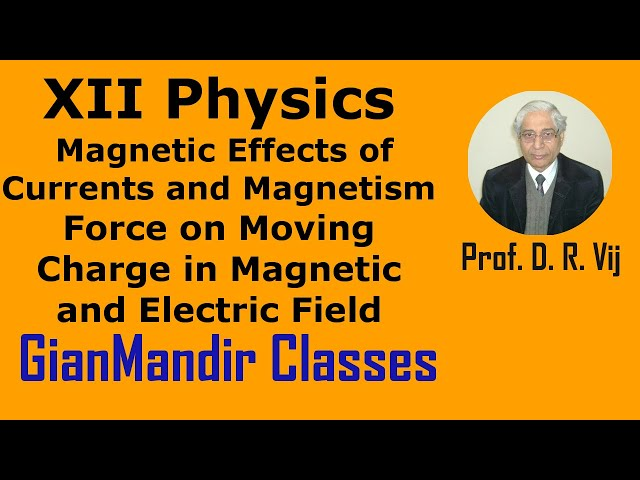 XII Physics | Force on Moving Charge in Magnetic and Electric Field by Himanshu Sir