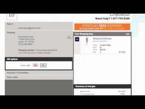 Gap Coupon Code - How To Use Promo Codes And Coupons For Gap.com