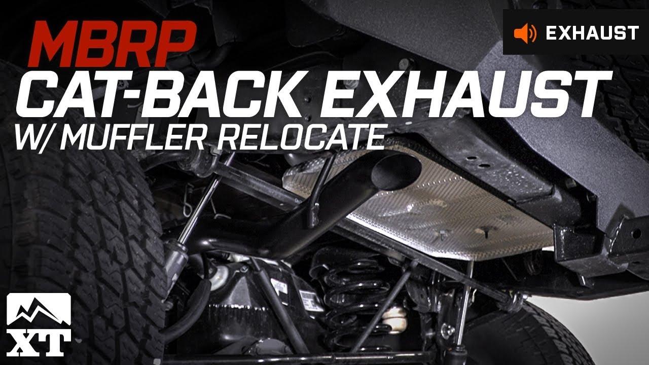 Jeep Wrangler Jk >> Jeep Wrangler (2007-2017 JK) MBRP Cat-Back w/ Muffler Relocate Exhaust Sound Clip & Install ...