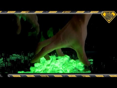 We Mixed Magic Sand with Glow Paint!