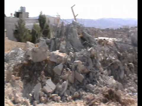 Occupation forces demolished house in Derat (south  Hebron) 25/11/10