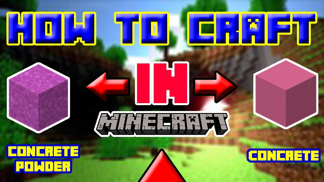 Minecraft Beton Craften